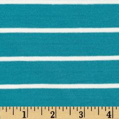 Stretch Bamboo Rayon Mariner Jersey Knit Stripe Turquoise/Off White from @fabricdotcom  This stretch bamboo rayon jersey knit fabric has an ultra soft hand, a fluid drape and about 50% four way stretch. This versatile fabric is perfect for creating stylish tops, tanks, lounge wear, gathered skirts and fuller dresses with a lining. Features yarn dyed horizontal stripes.