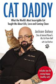 "Cat Daddy | http://paperloveanddreams.com/book/498637537/cat-daddy | ""Mr. Galaxy—shaved head, arms full of tattoos—seems physically at odds with his gentle voice and gentle approach to animals. . . . But though he may be dealing with humans who have been terrorized and even bloodied by their out-of-control pets, he's a model of consistency. The cats, not the people, are his No. 1 priority.""—The New York Times  ""Galaxy is not your average animal behaviorist. He speaks Cat. And cats listen…"