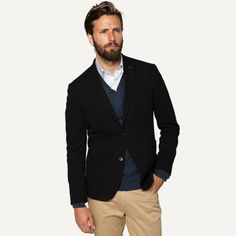 051a9775d71b Richmond Pique Blazer in Jet Black