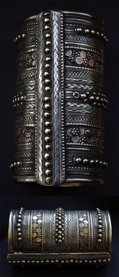 Eritrea, Sudan and Yemen | Cuff bracelet from the Rashaida nomads |  ca. 1970s or earlier