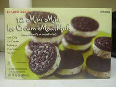 What's Good at Trader Joe's?: Trader Joe's Mini Mint Ice Cream Mouthfuls