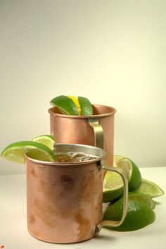 2 x Copper Moskow Mule Mugs Cups Bar Beer 14 Oz New Set by NYCware @JDeavours