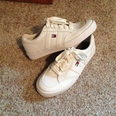 1f9aedac0c688a Tommy Hilfiger white canvas sneakers Only wore one time! Super cute!!!! Tommy  Hilfiger ShoesCanvas ...