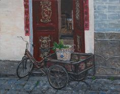 """""""Chinese Tricycle"""" painting by Patricia Thomas"""