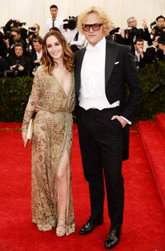 Leighton Meester in Emilio Pucci, David Yurman jewelry, with a Smythson clutch and Jimmy Choo  shoes, and Peter Dundas, creative director of Emilio Pucci