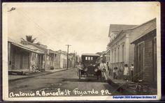 Calle de Fajardo,años 30,Puerto Rico.