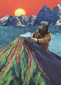 (Handmade Collage) by Lerson Collages, Collage Artists, Photomontage, Retro Futurism Art, Surrealist Collage, Nature Collage, Collage Collage, Trippy Wallpaper, Pics Art
