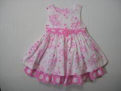 SAVANNAH BABY GIRLS SIZE 24 MONTHS 100% COTTON PINK DRESSY DRESS SLEEVELESS #Savannah #Party