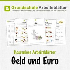 Money / Euro - Free Worksheets - Free worksheets and teaching materials on money and euros in math lessons in primary school. Kids Education, Special Education, Early Intervention Program, Kids Behavior, Educational Programs, Teaching Materials, Home Schooling, Elementary Math, Teaching Math