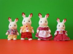 The Hopscotch Rabbit Family brother, Skip; father, Harlin; mother, Heidi; sister, Bell