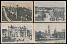 Ukraine 1916-18, four black-and-white PPC, representing various views of Kyiv, produced by Germans during occupation of Kyiv, each one with several Ukrainian stamps on address part, fresh condition, VF    Dealer  Raritan Stamps    Auction  Minimum Bid:  95.00US-$