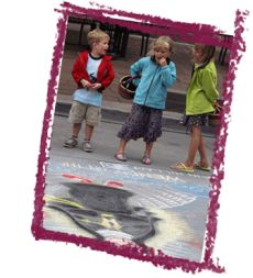 Sidewalk Chalk Art Contest... serve Hot Dogs and Sno Cones!