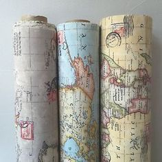 Vintage World Map Cotton Linen Fabric for Curtain & Upholstery, Sold by Metre in Crafts,Sewing & Fabric,Fabric Curtain Fabric, Linen Fabric, Cotton Linen, Dyi Curtains, Cotton Fabric, Bedroom Curtains, Buy Fabric, Map Crafts, Map Globe