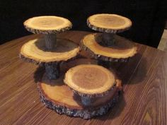 Multi level Reclaimed wood rustic Cupcake Stand rustic wedding cup cake stand