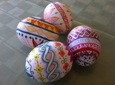 Egg decorating ideas for Easter- use sharpies!