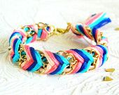 The Carnival Candy Friendship Bracelet feat. on The Pink Pagoda: Etsy Treasuries