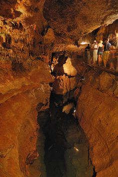 Cosmic Cavern, home to two bottomless lakes, in Berryville, Arkansas, near Branson. Photo by Gary Allman, via Flickr.