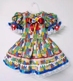 VESTIDO JUNINO no Elo7 | Espetaculo Fantasias (C42972) Harajuku, Hair Beauty, Summer Dresses, Pattern, Clothes, Store, Fashion, Hillbilly Costume, Infant Costumes