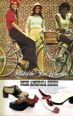 Miss America Shoes, Seventeen 1973 ~I had some shoes that were very much like the ones on the left in back but the heel wasn't as high. ~FC