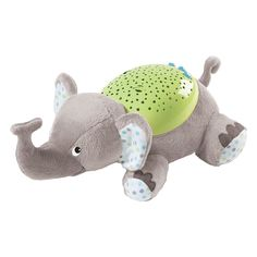 SwaddleMe Slumber Buddies Soother, Grey Elephant. 5 meditative songs and nature sounds. Calming starry sky display can be projected on ceiling and walls of baby's room. Select from rhythmic light show or relaxing individual colors. 15, 30, 45 minute auto shut-off. 3 level volume control.
