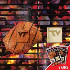 Virginia Tech Hokies NCAA Fan Brands Grill Logo(2 Pack)