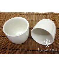"Teacup, White 3"" Porcelain 6 Pack"