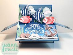 Juan Ambida Independent Stampin' Up!® Demonstrator Australia: Seaside Shore card in a box