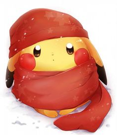 Find images and videos about pokemon, pikachu and cold on We Heart It - the app to get lost in what you love. Fotos Do Pokemon, All Pokemon, Pokemon Fan, Pikachu Art, Cute Pikachu, Kawaii Drawings, Cute Drawings, Pokemon Mignon, Cute Pokemon Wallpaper