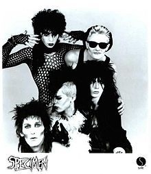 "Specimen.  80s ""Batcave Goth"" legends."
