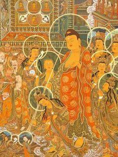 Beautiful Tibetan Buddhism, Buddhist Art, Theravada Buddhism, Eastern Philosophy, Buddha Painting, Gautama Buddha, Taoism, Spiritual Practices, Japanese Prints