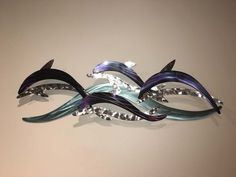 Dolphin Wave Metal Wall Sculpture
