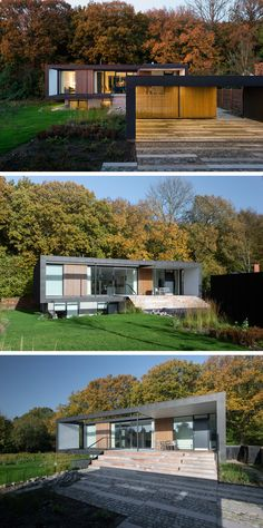 Architectural firm C.F. Møller, have designed a home located on the edge of a forest in Aarhus, Denmark.