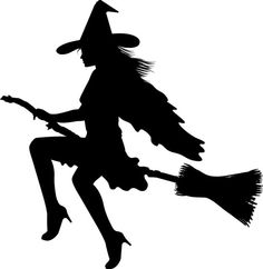 Sexy Witch Silhouette Car Sticker Vinyl Decal Bumper Spooky White Occult 14 x 14 | eBay