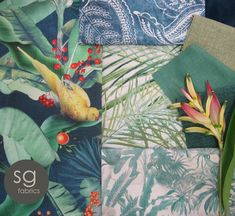 New Plantations collection by Stuart Graham Stuart Graham, Collections Catalog, Renaissance, Printing On Fabric, Plant Leaves, Antiques, Fabrics, Prints, Painting