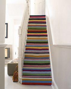 Déco d'Intérieur Coloré | multi-color stair runner | Flickr - Photo Sharing!