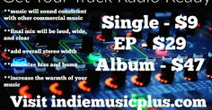 Get your 10 track project or album mastered and radio ready in less than 48 hours! #music