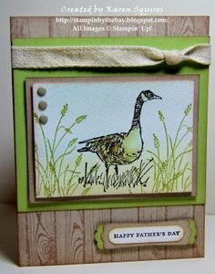 Stampin' By The Bay: Wetlands Simple Masculine Card