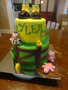 John Deere Farm Cake. Everything is edible