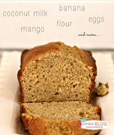 Banana Mango Coconut Milk Bread is easy to make and perfect for that healthy snack. Watch it disappear fresh out of the oven. Banana Coconut, Coconut Milk, Sin Gluten, Gluten Free, Mango Bread, Banana Bread, Mango Recipes, Scd Recipes, Bread Recipes
