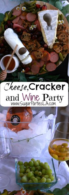 Cheese and Cracker party,Wine party,Girl's night in,spring cheese board,rustic food styling,appetizer board,wine party,rose,cheese,cracker and wine party, wine and cheese, spring board, spring food ideas.