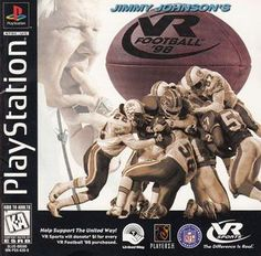 Complete Jimmy Johnson's VR Football 98 - PS1 Game