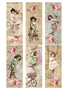 Vintage printable shabby chic labels