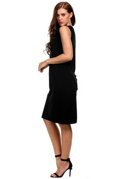 Buy Black Sleeveless Solid Lace Up Casual A-Line Tank Dress products from Loverchic China,UK warehouse and USA warehouse at wholesale prices. Buy the best and cheap Dresses,Casual Dresses in Clothing from Loverchic.com with high quality and top-rated service.