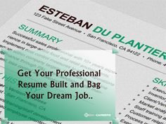 Check our Professional #Resume Building Services. For more info, contact: 0404789-5500. #job #seekcareerz #resumemaking