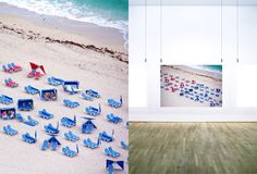 Miami Beach Blue and Red Chairs
