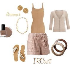 Summer Browns, created by ircourt on Polyvore
