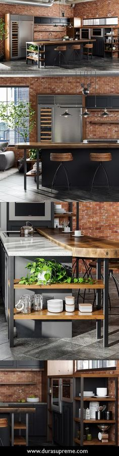 """Marvelous A Lofty Take on Industrial Style – The term """"industrial"""" evokes images of large factories with lots of machinery and moving parts. The post A Lofty Take on Industrial Style – The term """"industrial"""" evokes images of … appeared first on Lully . Industrial Kitchen Design, Industrial Interiors, Industrial House, Interior Design Living Room, Industrial Lighting, Modern Industrial, Industrial Kitchens, Industrial Shelves, Vintage Industrial"""