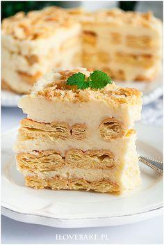 Ciasto napoleon bez pieczenia - I Love Bake Sweets Cake, Cake Cookies, Vanilla Cake, Cheesecake, Food And Drink, Baking, Napoleon, Cheesecakes, Bakken