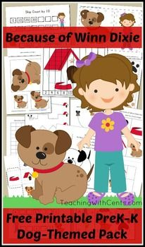 Because of Winn Dixie (Dog Activity) Pack includes: ABC Uppercase & Lowercase PuzzlesBasic Patterning Drawing Lines Coloring Page with Poem Counting by 2's Puzzle Theme Dice with Graphing PageLacing Cards Matching GameBeginner MazeMissing AlphabetSkip Counting by 10Size Sequencing32 pages total!Works perfectly as extension activities with the Because of Winn Dixie Elementary Pack: https://www.teacherspayteachers.com/Product/Because-of-Winn-Dixie-Activity-Pack-2020161