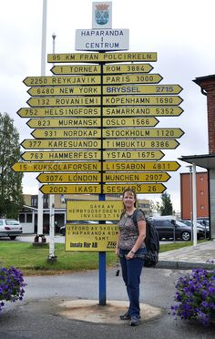 Haparanda, Sweden - border town of Sweden and Finland